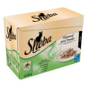 Sheba Essence Frischebeutel Multipack 12 x 85 g - Feine-Küche-Kollektion