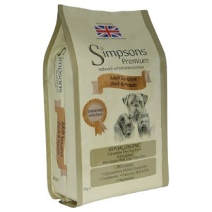Simpsons Premium Adult Sensitive Ente & Kartoffel - Sparpaket: 2 x 12 kg