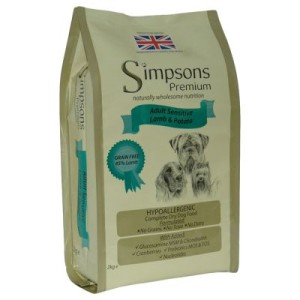 Simpsons Premium Adult Sensitive Lamm & Kartoffel - 12 kg