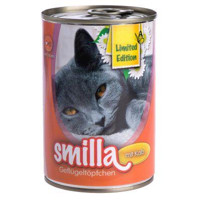 Smilla Geflügel- und Fischtöpfchen 6 x 400 g - Limited Edition: zartes Geflügel mit Kaninchen