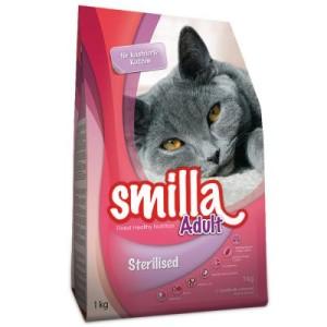 Smilla Sterilised Probierpaket: Trocken- und Nassnahrung - 1 kg Trockennahrung + 12 x 85 g Frischebeutel