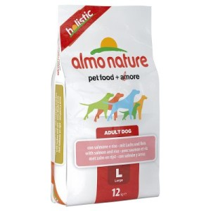 Sparpaket Almo Nature 2 x 12 kg - Adult Lachs & Reis Medium