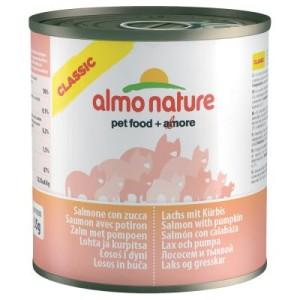 Sparpaket Almo Nature Classic 12 x 280 g - Lachs & Kürbis