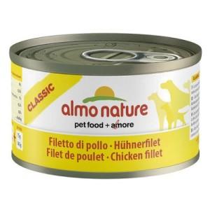 Sparpaket Almo Nature Classic 12 x 95 g - Kalb mit Schinken