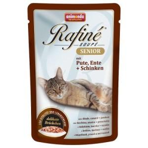 Sparpaket Animonda Rafiné Soupé 48 x 100 g - Adult Geflügel & Kaninchen & Schinken