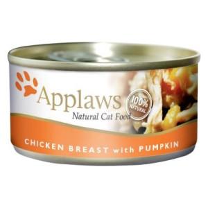 Sparpaket Applaws Katzenfutter 24 x 70 g - Hühnchenbrust & Käse