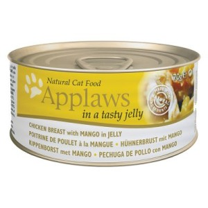 Sparpaket Applaws in Jelly 24 x 70 g - Hühnerbrust mit Mango