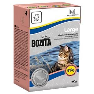 Sparpaket Bozita Feline Tetra Recart 12 x 190 g - gemischtes Paket (Indoor & Sterilised + Hair & Skin)