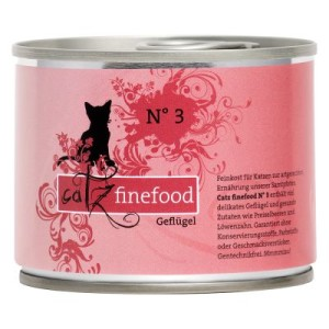 Sparpaket Catz Finefood 12 x 200 g - Rind & Ente