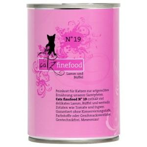 Sparpaket Catz Finefood 12 x 400 g - Rind & Ente
