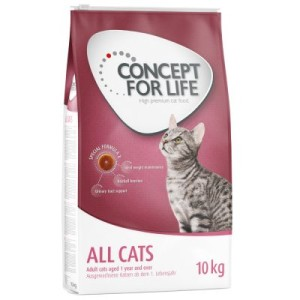 Sparpaket Concept for Life 2 x Großgebinde - All Cats 10+ (2 x 3 kg)