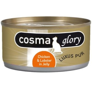 Sparpaket Cosma Glory in Jelly 24 x 170 g - Mix-Paket: Hühnchen mit Wachtelei