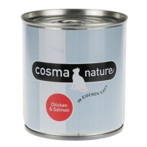 Sparpaket Cosma Nature 12 x 280 g - Hühnerbrust & Thunfisch