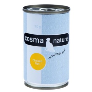 Sparpaket Cosma Nature 24 x 140 g - Hühnerbrust & Thunfisch