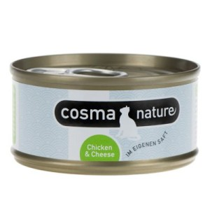 Sparpaket Cosma Nature 24 x 70 g - Hühnerbrust & Thunfisch