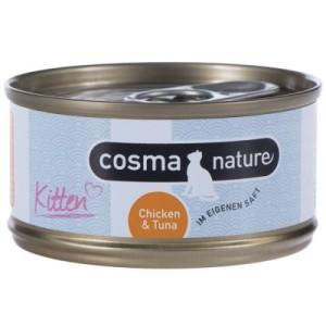Sparpaket Cosma Nature Kitten 24 x 70 g - mit Hühnchen & Thunfisch