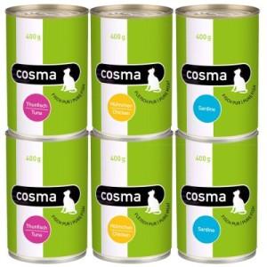Sparpaket Cosma Original in Jelly 12 x 400 g - Gemischtes Paket
