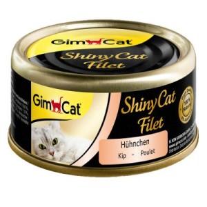 Sparpaket GimCat ShinyCat Filet Dose 12 x 70 g - Hühnchen & Garnelen