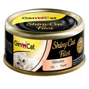 Sparpaket GimCat ShinyCat Filet Dose 24 x 70 g - Thunfisch Mix