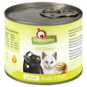 Sparpaket Granata Pet DeliCatessen 24 x 200 g - Kitten Kalb & Pute
