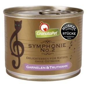 Sparpaket GranataPet Symphonie 12 x 200 g - Lachs & Pute