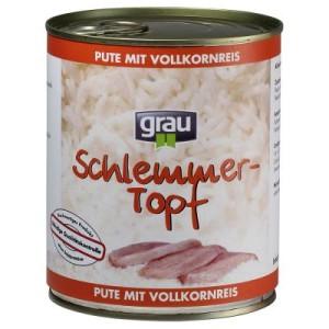 Sparpaket Grau Schlemmertöpfe 12 x 800 g - Rind mit Vollkornreis