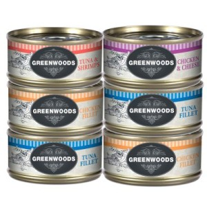 Sparpaket Greenwoods Adult 48 x 70 g - Thunfisch & Shrimps