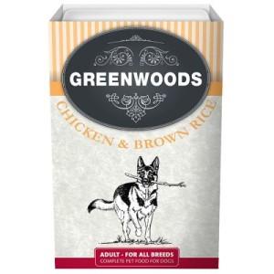Sparpaket Greenwoods Adult Nassfutter 12 x 395 g - Huhn & brauner Reis