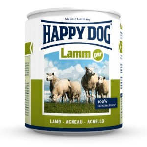 Sparpaket Happy Dog Pur 12 x 800 g - Lamm Pur