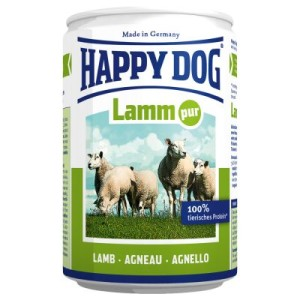 Sparpaket Happy Dog pur 24 x 400 g - Lamm Pur
