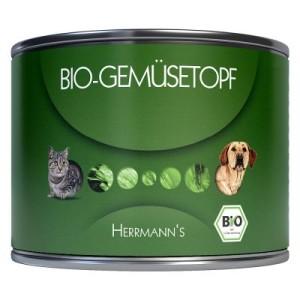 Sparpaket Herrmanns Bio Ergänzungsfutter 24 x 200 g - Bio Gemüsetopf + Bio Fleischlos