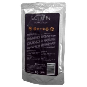 Sparpaket Herrmanns Bio-Menü Katzenfutter 24 x 85 g - Bio-Rind mit Karotten & Spätzle