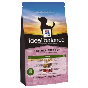 Sparpaket Hill's Ideal Balance 2 x Großgebinde - Adult Small Breed Huhn & Reis (3 x 2 kg)