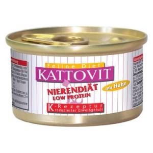 Sparpaket Kattovit Niere/Renal 24 x 85 g - 12 x Lamm und 12 x Huhn