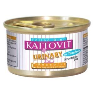Sparpaket Kattovit Urinary 24 x 85 g - 12 x Thunfisch und 12 x Kalb
