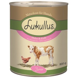 Sparpaket Lukullus Junior 24 x 800 g - Huhn & Kalb