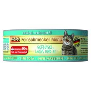 Sparpaket MAC´s Cat Feinschmecker 12 x 100 g - Geflügel & Lachs