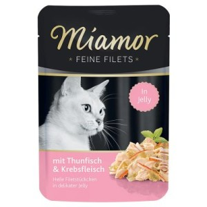"Sparpaket Miamor Feine Filets in Jelly 24 x 100 g - gemischtes Paket ""Meer & Gemüse"""