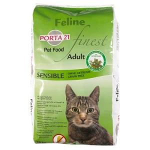 Sparpaket Porta 21 2 x Großgebinde - Feline Finest Sensible - Grain Free (2 x 10 kg)