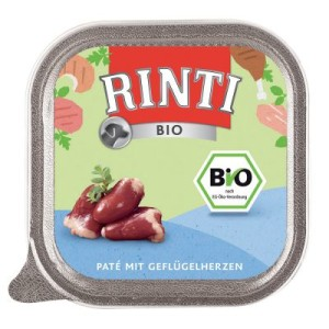 Sparpaket Rinti Bio Schale 44 x 150 g - Geflügelherzen