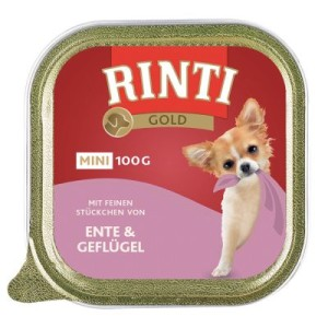 Sparpaket Rinti Gold Mini 24 x 100 g - Rind & Perlhuhn