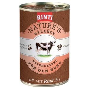 Sparpaket Rinti Nature´s Balance 24 x 400 g - mit Rind