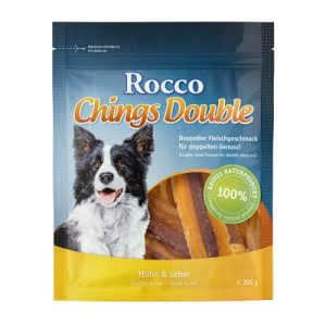 Sparpaket Rocco Chings Double 4 bzw. 12 x 200 g - Huhn & Leber 4 x 200 g
