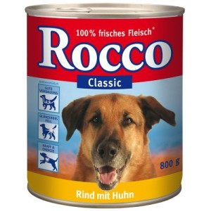 Sparpaket Rocco Classic 12 x 800 g - 6 Sorten im Mix: Rind pur