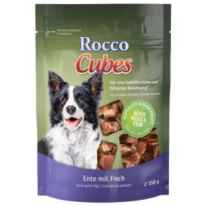 Sparpaket Rocco Cubes 4 bzw. 12 x 200 g - Ente mit Fisch 12 x 150 g