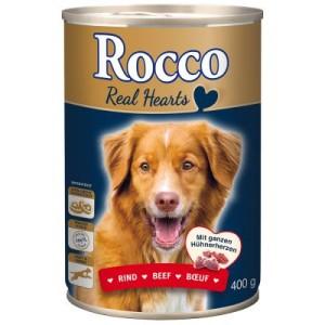 Sparpaket Rocco Real Hearts 24 x 400 g - Rind mit ganzen Hühnerherzen