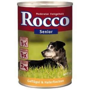 Sparpaket Rocco Senior 24 x 400 g - Geflügel & Haferflocken