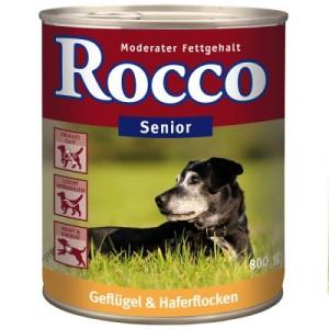 Sparpaket Rocco Senior 24 x 800 g - Geflügel & Haferflocken