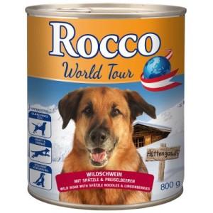 Sparpaket Rocco Weltreise: Österreich 24 x 800 g - Wildschwein mit Spätzle und Preiselbeeren