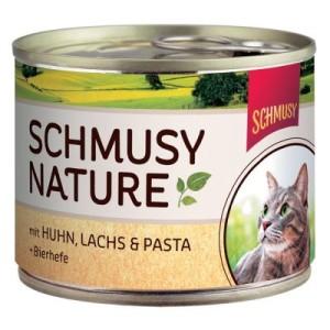 Sparpaket Schmusy Nature 24 x 190 g - Gemischtes Paket: Huhn